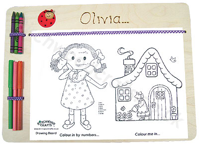 Children's / Kids Personalised Wooden drawing boardx �6.50