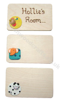 Children's / Kids Personalised Wooden Room Plaque �2.50 each