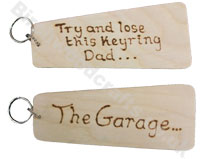 New in - Wooden Key Rings Large