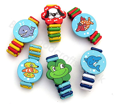 Big Photo of Educational Wooden Bracelets - £1.50