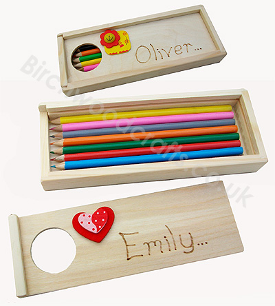 Handmade Personlised Wooden Pencil Case - £4.99