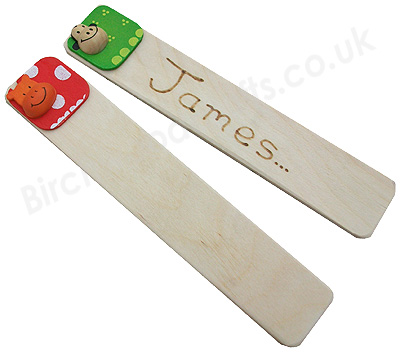 Handmade Personlised Wooden Bookmark - £1.99